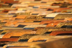 Roof. Detail of rooftop with roofing tiles Stock Images