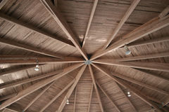 Roof. Pavillion Roof of rough timbers Stock Photography