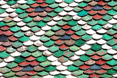 Roof. Colored roof from Switzerland royalty free stock photography