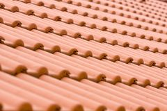 Roof. Red Abstract roof tile pattern Stock Image