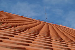 Roof. In red in brno royalty free stock photography