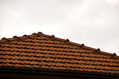 Roof. Tiled roof. Space for text. Horizontal image Stock Images