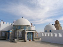 On the roof. Top in Kairouan,Tunisia Royalty Free Stock Photography