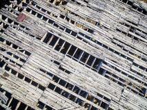 Roof of abandoned gold mine mill Stock Photos