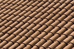 Roof Abstract. Abstract pattern of clay roof shingles Royalty Free Stock Photo