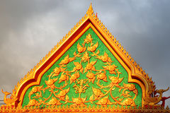 Roof accient detail of Thai buddhism temple architecture Thailan Royalty Free Stock Photography