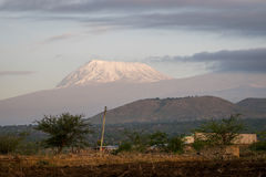 Roof of Africa - Kilimanjaro, Kibo mountain Stock Images