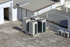 Roof Air Conditioners Royalty Free Stock Photos