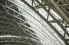 Roof of the airport hall Stock Images