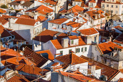Roof of Alfama at early morning Lisbon Portugal Stock Image
