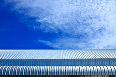 roof aluminium factory on blue sky Royalty Free Stock Photo
