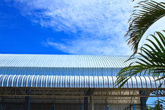 Roof aluminium factory on blue sky Stock Images