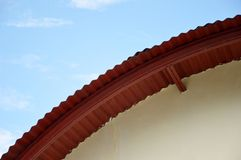 Roof of an ancient building Royalty Free Stock Image