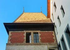 Roof of ancient building at Geneva city center Stock Photography