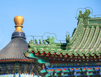Roof of the ancient building in Temple of Heaven Stock Photo