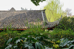 Roof of ancient building in verdant spring Royalty Free Stock Images