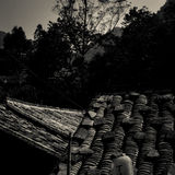 Roof of ancient chinese building Stock Photo