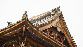 The roof of ancient temple royalty free stock photos