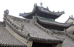 The roof of ancient temple. Royalty Free Stock Images