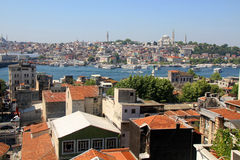 Roof ans beautiful istanbul Royalty Free Stock Photography