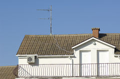Roof with antenna Stock Photography