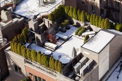 Snow Covered Rooftop Stock Images