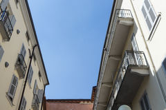 Roof apartments in ancient city #3. Salsomaggiore Royalty Free Stock Images