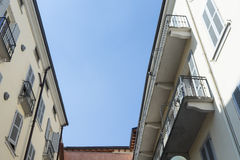Roof apartments in ancient city. Salsomaggiore Stock Images