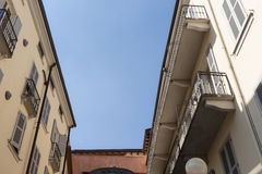 Roof apartments in ancient city #2. Salsomaggiore Stock Photography