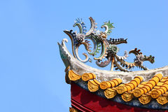 Roof Architecture of Buddhist Temple 02 Stock Photography