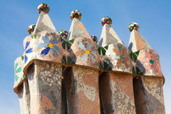 Roof architecture at Casa Batllo Royalty Free Stock Images