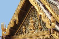 Roof Architecture at the Grand Palace, Bangkok (Close-up) Royalty Free Stock Photo