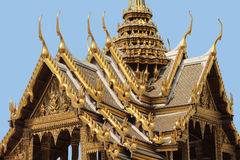 Roof Architecture at the Grand Palace, Bangkok stock photos