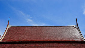 Roof of architecture. In temple Royalty Free Stock Photos