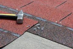 Roof asphalt shingles Royalty Free Stock Photography
