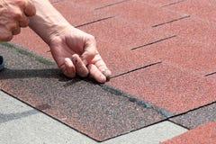 Roof asphalt shingles Royalty Free Stock Photos