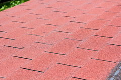 Roof asphalt shingles Stock Photos