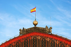 Roof of atocha railway station. Madrid Royalty Free Stock Photo