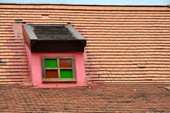 Roof. Attic roof old style house Royalty Free Stock Image