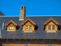 Roof with attic Royalty Free Stock Photos