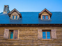Roof with attic royalty free stock image