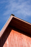 Roof on background sky. Roof on background blue sky stock photography