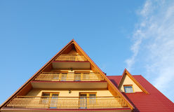 Roof and balcony Stock Images