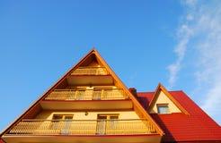 Roof and balcony Royalty Free Stock Photo
