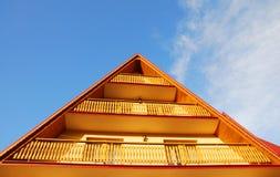 Roof and balcony Royalty Free Stock Photos