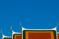 Roof of Bang Krachao Temple Stock Photography
