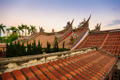 Roof of baoan temple in taipei Stock Photos