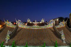 Roof of baoan temple in taipei Royalty Free Stock Images