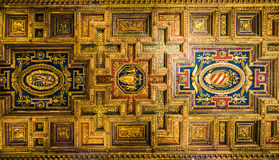 Roof in church Santa Maria Aracoeli. Detail of Roof in church Santa Maria Aracoeli  in Rome, Italy Royalty Free Stock Photos