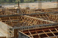 Roof Beam Formwork Stock Image